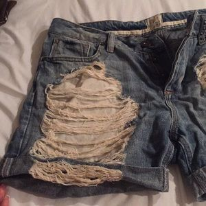 River Island Shorts - River Island distressed denim shorts